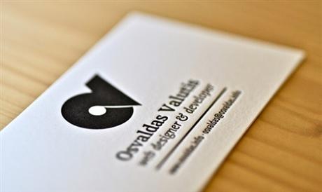 Black White Letterpress business card