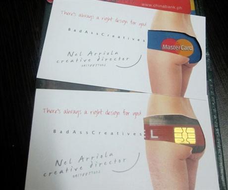 Die Cut Underwear Card business card