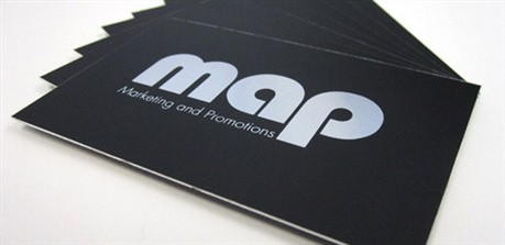 Silver Foil business card