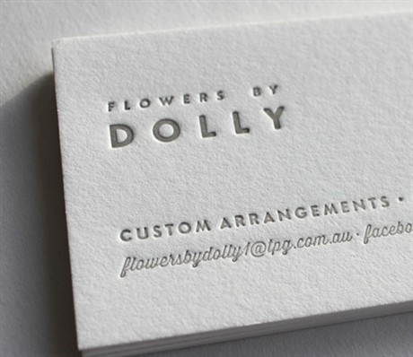 Flowers By Dolly Letterpress business card