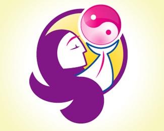 circle,pink,ying,yang,magenta logo