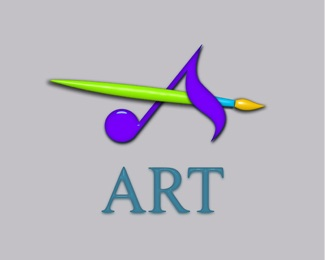 brush notes art arts logo