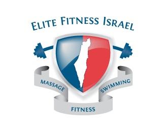 blue,map,red,shield,ribbon logo