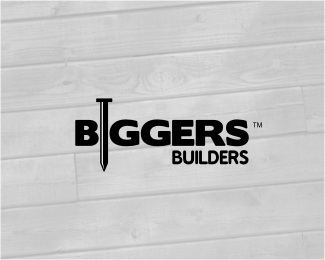 big,building,construction,logotype,nail logo