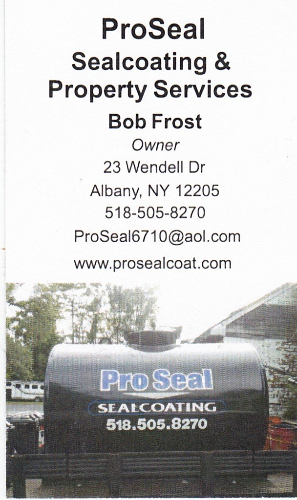 local,stripes,concrete,stripe,masonry,albany ny,property maintenance,sealcoating,snow plowing business card
