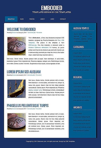 blog,business,personal website template