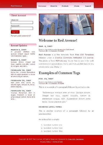 building,skyscraper website template