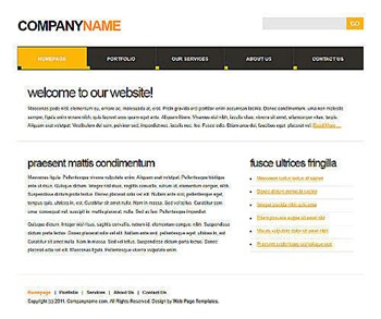 neutral,plain,simple website template