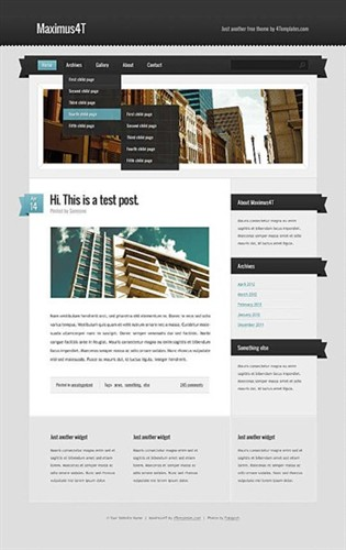 blog,business website template